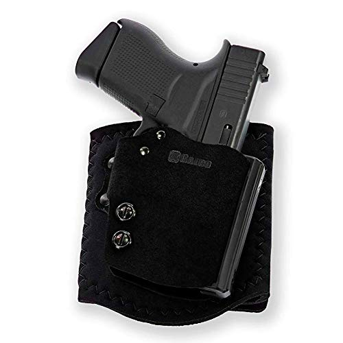 Galco Ankle Guard Ankle Right-Hand Carry Leather Holster, Black AGD600B