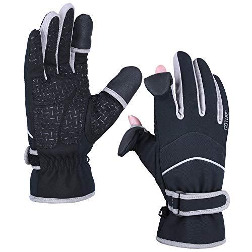 Goture Handschuhe, 3M Thinsulate, Winterhandschuhe wasserdichte Winddichte Fahrhandschuhe Touchscreen-Handschuhe