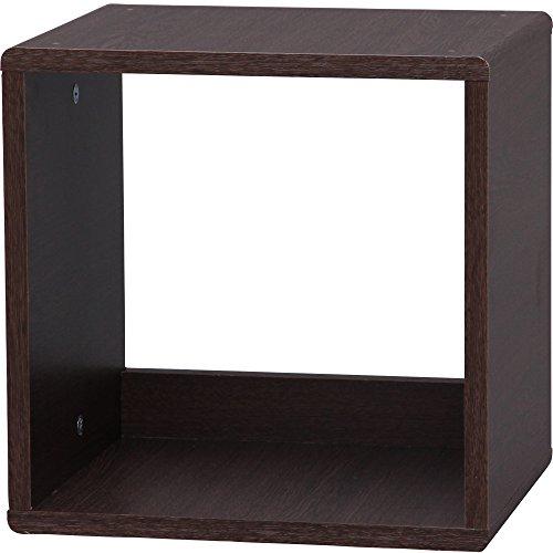 アイリスオーヤマ QR ボックス オープン 幅34.4×奥行29.0×高さ34.4cm ブラウンオーク QR-34