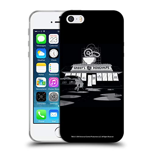Head Case Designs Licenza Ufficiale The Umbrella Academy Ciambelle di Griddy Grafiche Cover in Morbido Gel Compatibile con Apple iPhone 5 / iPhone 5s / iPhone SE 2016