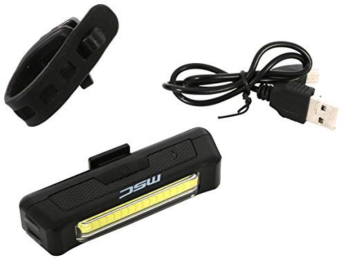 MSC Bikes LIGHT100W Luz de Seguridad, Negro, 100 lúmenes
