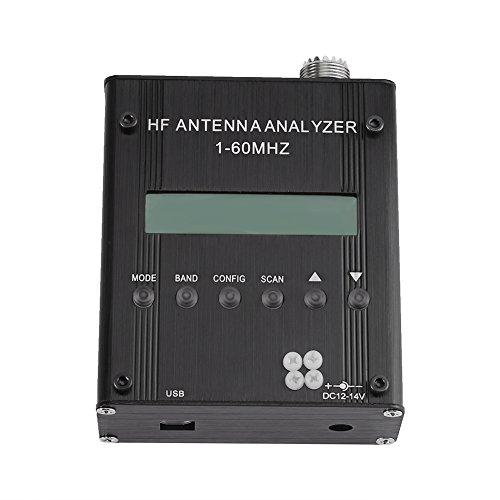 MR300 Analyseur d'Antenne à Ondes Courtes Testeur Détecteur de Capacitance Impédance Ondes Stationnaires 1-60MHz RF SWR pour Radioamateurs