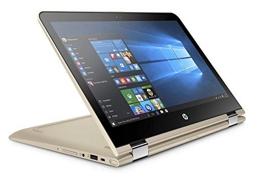 HP Pavilion x360 (13-u104ng) 33,8 cm (13,3 Zoll / Full HD IPS) 2-in-1 Tablet PC (360° Laptop mit Intel Core i5-7200U, 1 TB HDD, 8 GB RAM, Intel HD Graphics, Windows 10 Home) gold