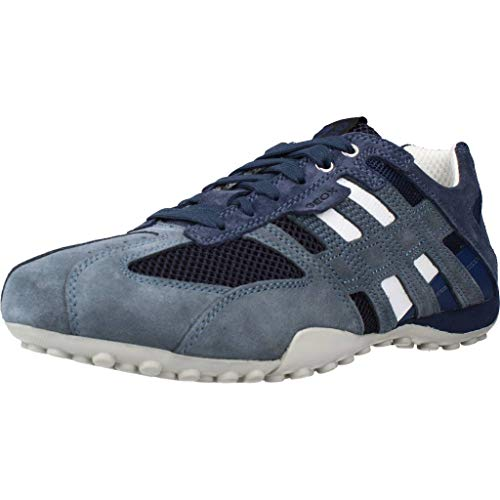 Geox Herren Uomo Snake K Sneaker, Blau (Avio/blackc4321), 46 EU