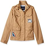 Limited Too Girls' Big Cotton Twill Jacket with Patches, Ginger snap, 10/12