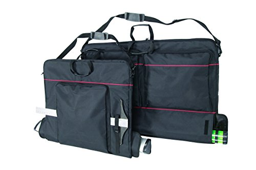 Prestige, All-in-One, Soft Sided Art Portfolio, Water Resistand and Adjustable Strap - 24 x 27 Inches