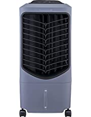 Honeywell TC09PEG Luchtkoeler, mobiele airconditioner, afstandsbediening, waterreservoir van 9 liter, grijs
