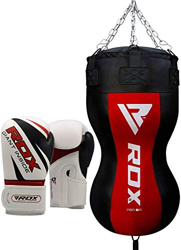 RDX Heavy Upper Cut Body Punch Bag Boxing Gloves UNFILLED MMA Training Muay Thai