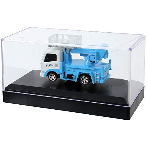 TE-Trend Mini RC Modell 1:64 Ferngesteuerter LKW Truck Hebebühne Licht Akku komplett Fernbedienung Spielzeug Blau