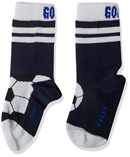 FALKE Jungen Active Soccer Socken, blau (Marine 6120), 31-34
