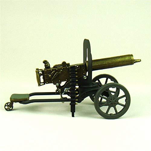 YNJZ Estatua Escala Maxim Machine Gun Diecast Model la Primera Guerra Mundial Novedad Decoración Adorno Artesanal para colección de Arte y Regalo de Recuerdo