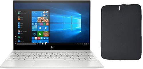 2020 HP Envy 13.3' 4K UHD IPS Touchscreen Premium Laptop PC, Intel Quad-Core i7-1065G7, 8GB RAM, 512GB SSD, Backlit Keyboard, Fingerprint Reader, Windows 10 Home, w/ WOOV Accessory Bundle