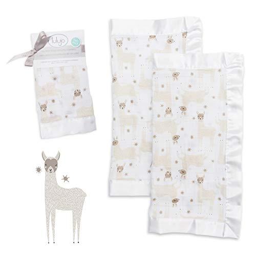 lulujo Baby Security Lovie Blankets  Unisex Softest Breathable Cotton...