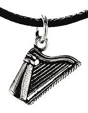 Kiss of Leather hanger Harfe van 925 sterling zilver nr. 358