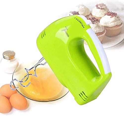 Xizi - Batidor mezclador eléctrico de mano, 7 velocidades, incluye varillas cromadas, ganchos de pasta, para cocina, hornear, pastel, mini crema con huevos, batiente alimentario