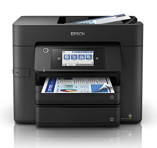 Epson WorkForce WF-4830 All-in-One Wireless Colour Printer with Scanner,...