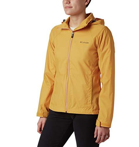 Columbia Women's Switchback III Adjustable Waterproof Rain Jacket, Raw Honey 2, X-Large