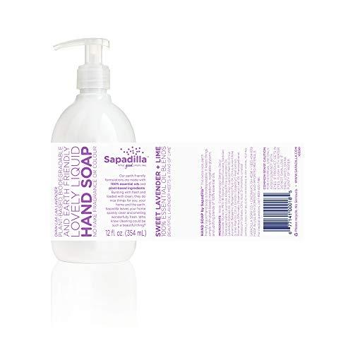 Sapadilla 101810 Rosemary + Peppermint, Grapefruit + Bergamot, Sweet Lavender + Lime Hand Soap, Clear, 3 Count