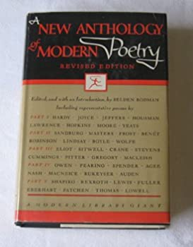 Hardcover A New Anthology of Modern Poetry (Modern Library Giant, G46.2) Book
