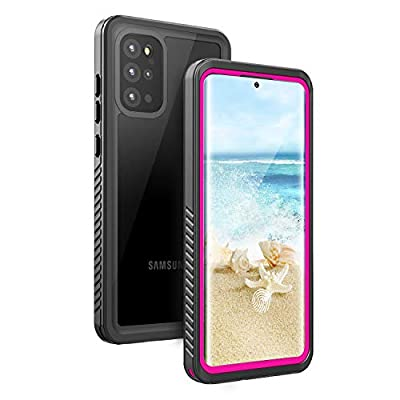 Fansteck Samsung Galaxy Waterproof S20 Plus Case, Underwater Phone Case with Built in Screen Protector and Fingerprint Compatible, Full Body Shockproof Protective Cover for S20 Plus (Pink & Clear)