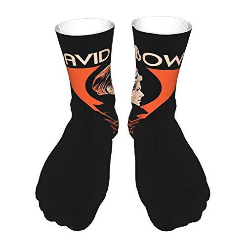 PoPBelle Socks Calcetines de impresión unisex antideslizantes Calcetines gruesos cálidos Calcetines casuales de poliéster Calcetines deportivos al aire libre David Bowie