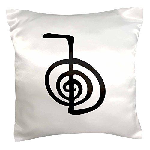 3dRose LLC. Reiki Power Symbol Cho KU Choku Rei para la protección de Limpieza de energía o impulsar la curación Funda de Almohada, (pc_154526_1), satén, Blanco, 40,6 x 40,6 cm