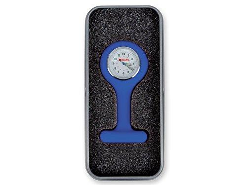 Gima - Orologio per Infermieri in Silicone, Quandrante Rotondo, Colore Blu, in Scatola di Alluminio