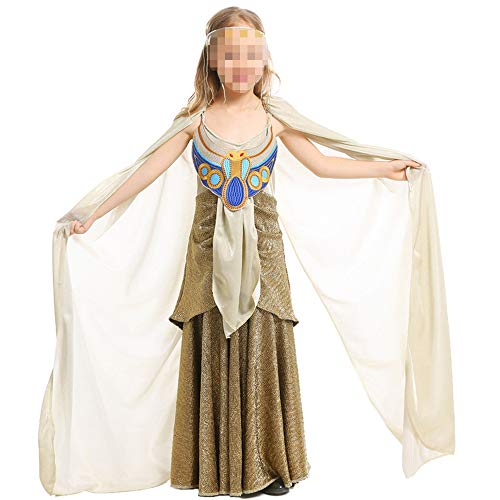 kMOoz Cosplay kostuum, halloween Outfit,kids Halloween Heks Fancy Adress Kostuum Cosplay Halloween Party, oude Egyptische Mythologie Lange Rok Children's Halloween Cos Egyptische Farao