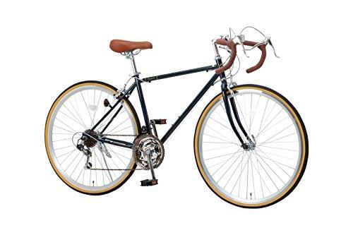 RayChell(レイチェル)クラシックロードバイク700Cシマノ21段変速RD-7021R2WAYブレーキシステムサムシフターネイビーブルー[メーカー保証1年]