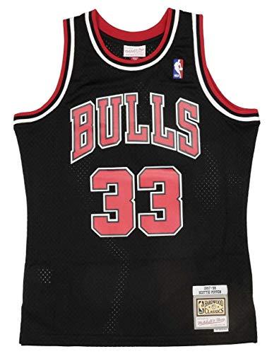 Mitchell&Ness Chicago Bulls Blusas, Color Negro, XXL para Hombre