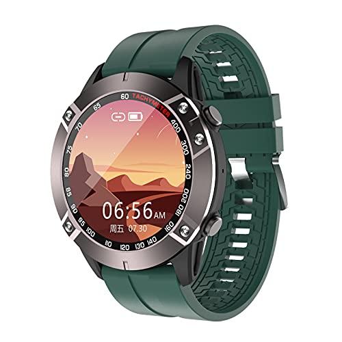QFSLR Smartwatch, Pulsera De Actividad Inteligente con Monitor De Frecuencia Llamada Bluetooth Cardíaca Monitor De Presión Arterial Monitoreo De Oxígeno En Sangre Control De Música,Verde