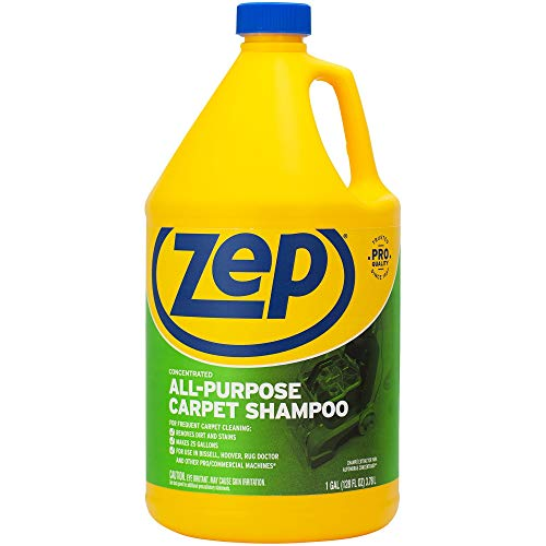 Zep All-Purpose Carpet Shampoo Concentrate 128 ounce ZUCEC128 (formerly Carpet Extractor) , Blue