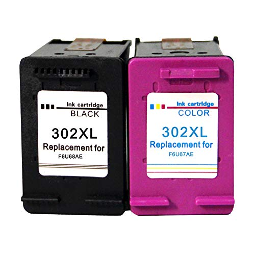 Pack Cartucho Tinta Negro Color para HP 302XL para HP DeskJet 2130 2134 3630 3632 HP Envy 4520 4522 4524 HP OfficeJet 3830 3831 3832 3833 3834 3835 4650 4652 4654 4656 4657 4658 5520 5530 5232