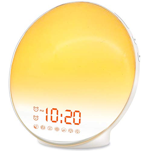 Wake Up Light Sunrise Alarm Clock for Kids, Heavy Sleepers, Bedroom, with Sunrise Simulation, Sleep...