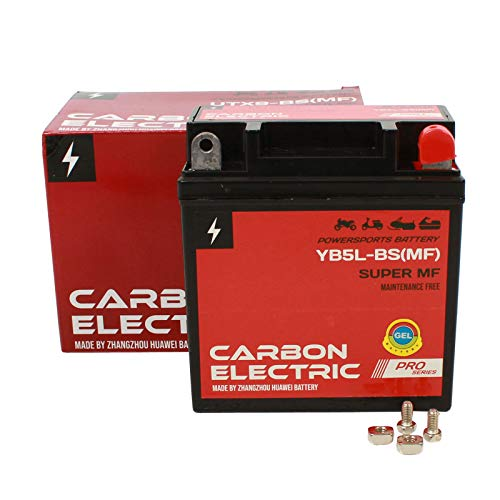 Carbon Electric Gel Batterie YB5L-BS MF 5Ah 12V 12N5-3B Motorrad Roller Quad