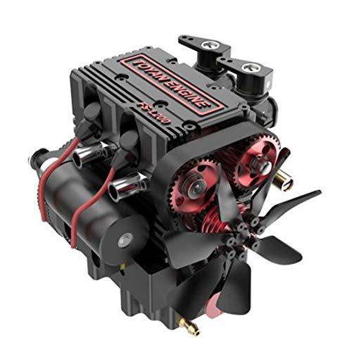 XIKI Viertaktmotor Bausatz Toyan Doppelzylinder Methanol Engine Kit Motor Modell Set für 1:10 1:12 1:14 RC Auto Boot Flugzeug - FS-L200