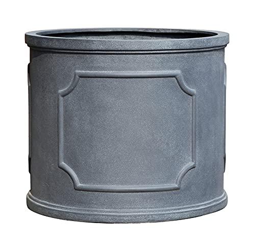 VAPLANTO® Pflanzkübel Portsmouth 50 Blei Grau Rund * 52 x 52 x 43 cm * 10 Jahre Garantie