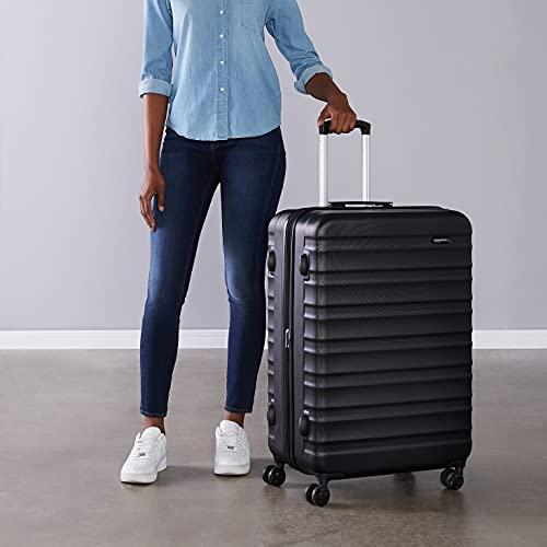 AmazonBasics Hardside Spinner Travel Luggage Suitcase - 28 Inch, Black