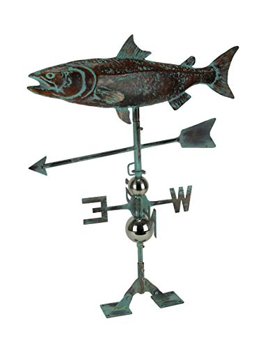 Things2Die4 Salmon Weathervane with Roof Mount