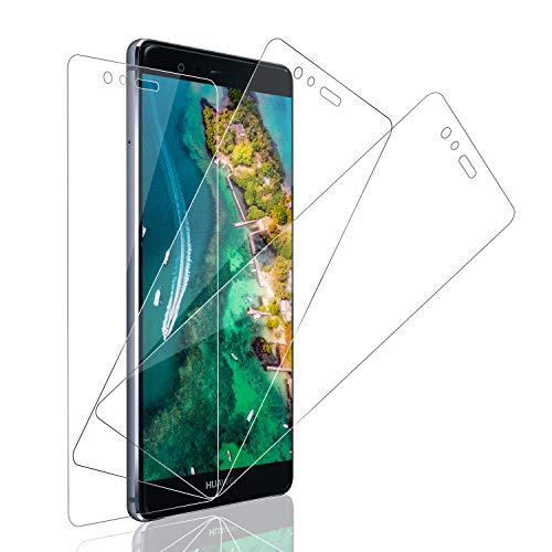 SNUNGPHIR Pellicola Protettiva per Huawei P9, 3 Pezzi Vetro Temperato per Huawei P9, Durezza 9H, 0,33mm Ultra Trasparente, Ultra Resistente, [Senza Bolle] Non Coprire l'intero Schermo