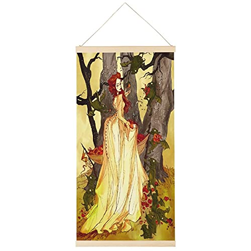 ERQN Cartel colgante de estilo de cuento de hadas es hermoso anime para colgar pósteres de pergamino de lona para colgar en la pared de 40,6 x 81,3 cm
