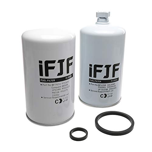 iFJF Fuel Filter Set FS1001 FF5320 for Diesel Engine Replace OEM 3413084 BF7633 FF5320