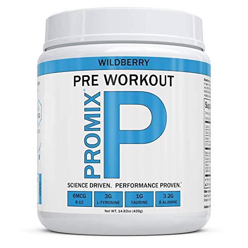 Pre Workout Powder Supplement Natural Energy Focus I Keto Paleo I PROMIX Performance I Men & Women Beta Alanine Taurine Tyrosine Vitamin B12 Weight Fat Loss Blast Drink, Preservative Free, Limeade