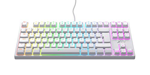 Xtrfy(エクストリファイ)K4 RGB 英語配列 赤軸メカニカル ゲーミングキーボード LEDイルミ(6ゾーン)UK配列【日本正規品】 (テンキーレス(TKL)ホワイト) 701208