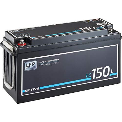 ECTIVE LC150L 12V 150Ah 1920 Wh LiFePO4 Lithium-Eisenphosphat Versorgungs-Batterie mit BMS