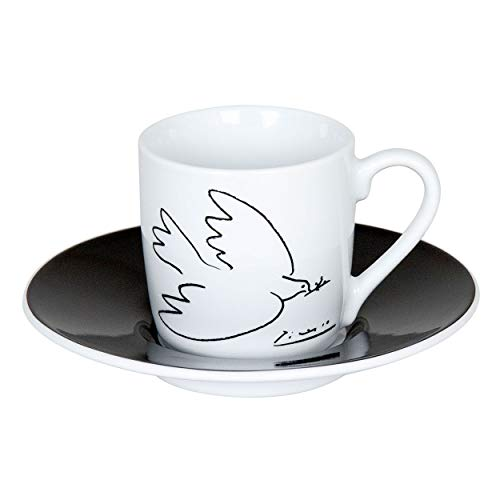 Könitz Picasso La Colombe De La Paix Espresso Set, 2-tlg., Espresso Tasse, Becher, Untertasse, Porzellan, 85 ml, 11 5 053 1989