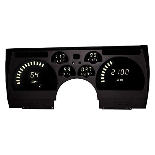 1991-1992 Camaro White LEDs Digital Replacement Gauge Panel Direct Replacement Gauge Cluster