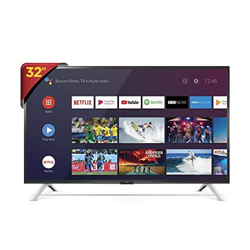 "Smart TV LED 32"" HD Android SEMP 32S5300, Conversor Digital, Wi-Fi, Bluetooth, 1 USB, 2 HDMI, Comando de Voz e Google Assistant"