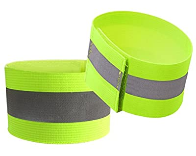 YOA Reflective Bands (2 Bands/1 Pairs) | High Visibility Safety & Running Gear for Jogging, Cycling, Walking | 1 Reflective Strips/Tape, Elastic Fabric