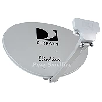 Ready to Install Package   Directv HD Satellite Dish w/ SWM3 LNB + RG6 COAXIAL Cables Included Ka/ku Slim Line Dish Antenna SL3 Single Output W/ 4 Port Splitter
